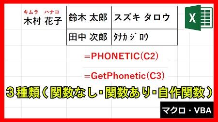 【業務】入力した文字列のフリガナを表示する方法3選