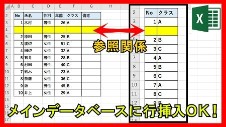 【業務】データベースにデータを追加→他の参照にも反映させる方法