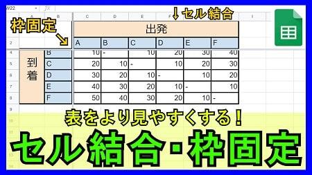 【1-06】セルの結合・ウィンドウ枠の固定方法