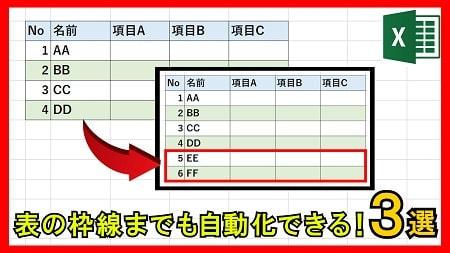 【便利】条件付き書式で1行おきに色を自動で設定